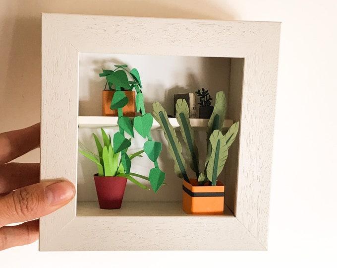Botanical paper art, handmade paper plants, paper garden