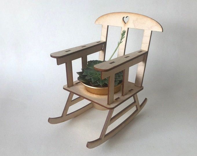 Rocking chair DIY kit planter