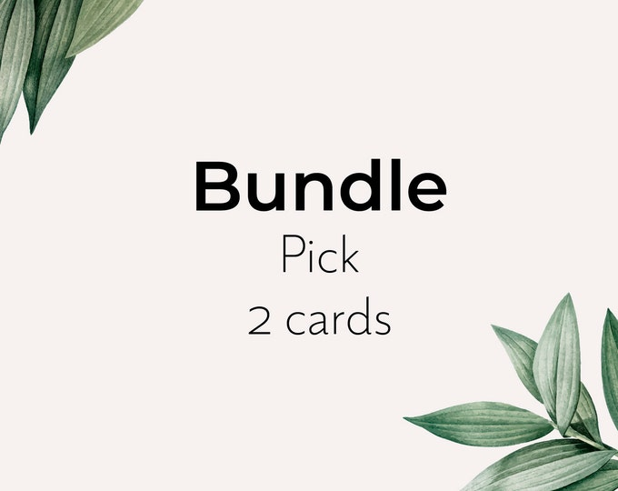 Bundle of seed paper card - pick 2 eco sustainable recyclable cards