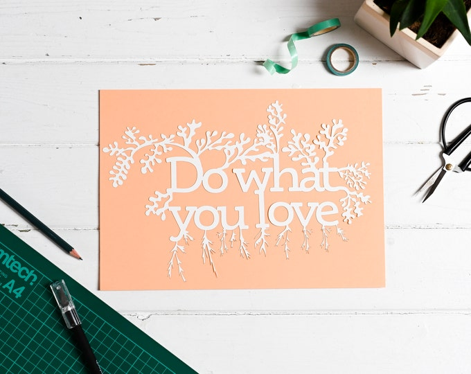 Positive affirmation paper cutting kit, adult craft kit, do what you love