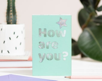 How are you seed paper cut card, eco seed paper laser cut card