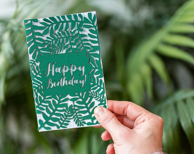 Birthday seed paper eco card