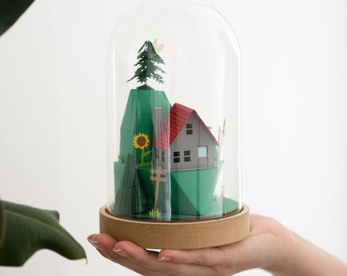 Paper craft kit sculpture, DIY paper sculpture - no tools