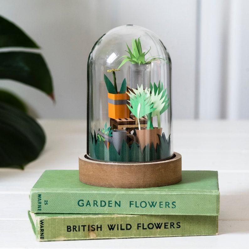 DIY paper garden craft kit adult craft kit image 0