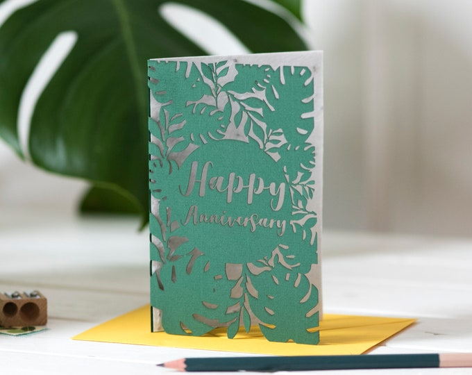 Eco anniversary card, seed paper love card