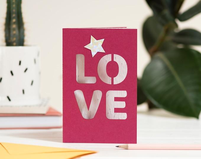 Love eco seed card, engangement eco seed paper, sending love laser cut card