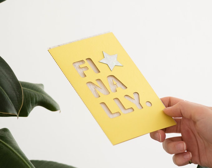 Finally eco seed card, eco seed paper, laser cut card