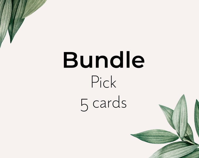 Bundle of seed paper card - pick 5 eco sustainable recyclable cards