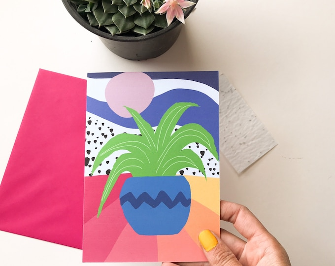 Plant eco card seed paper, plant printed card