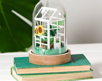 DIY paper greenhouse craft kit, adult craft kit