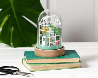 DIY paper greenhouse craft kit - no tools