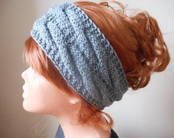 Knit Headband  Ear Warmer Head Warmer Grey