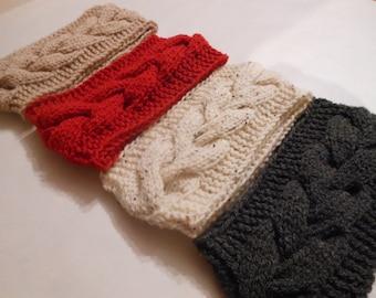 Knit Cable Headband  Ear Warmer Head Warmer Choose Color