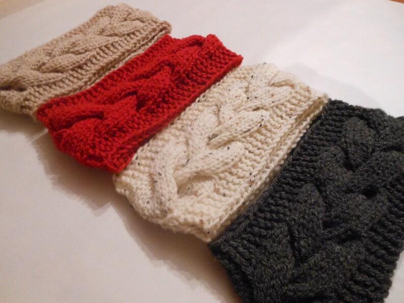Knit Cable Headband  Ear Warmer Head Warmer Choose Color image 0