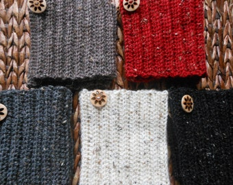 Hand Crocheted Boot Cuffs Leg Warmers Boot Socks with Buttons