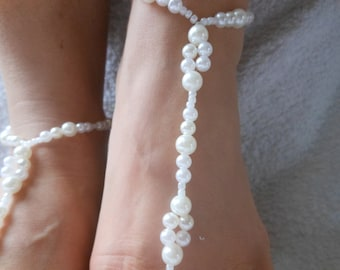 Barefoot Sandals Beach Wedding   Yoga Shoes Foot Jewelry  Beads