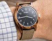 Gift For Dad, Father's Day Gift, Engraved Wood Watch, Wood Watch, Men's Wood Watch - RIDGE-ZB