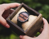 Wooden Watch Box, Personalized Wood Watch Box, Gift For Dad, Custom Wood Watch Box