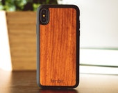 Wood iPhone X Case, Real Wooden iPhone X Case, Rosewood iPhone X Case - SHK-R-X
