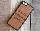 Custom Engraved Wood iPhone 6 Case, Rosewood iPhone 6 Custom Case - FREE USA Shipping
