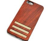 iPhone 6 Wood Case, Real Rosewood iPhone 6 Case with Tan Linen, iPhone 6 Case - CBR6-LNT