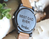 Wood Watch Engraved, Wood Watch Engraved For Men , Engrave up to 40 Characters, Men's Wood Watch - CST-BRLY-L-DAD