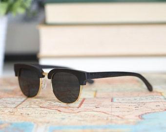 5419462bc2c Ebony   Maple Wood Frame Sunglasses Real Mens Wood