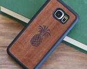 Galaxy S6 Edge Wood Case,Galaxy S6 Edge Wood Cover - FFGR6-EDGE-PINEAPPLE