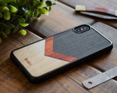 Wood iPhone Case, iPhone 7 / 8 Wood Case, iPhone 7 / 8 / XS MAX / XR Wooden Case, Chevron Case