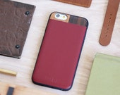 Leather iPhone 7 / 8 Case, iPhone 7 / 8 Maroon Leather Case, iPhone 7 / 8 Case - LTR-MR-I7