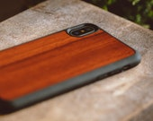 Wood iPhone XR Case, Real Wooden iPhone XR Case, Rosewood iPhone XR Case
