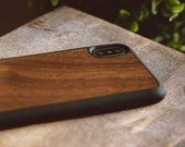 iPhone XS Max Wood Case, Real Wood iPhone XS Max Case, Walnut Wood iPhone 10 Case - SHK-W-X