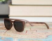 Wood Frame Sunglasses, Walnut & Maple Wood Polarized Sunglasses, Wooden Sunglasses - ALP-W