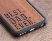 Best Dad Ever Phone Case, Fathers Day Gift iPhone 6 / 7 / 7 Plus Case, Gift Idea For Dad, Gift For Dad Wood - SHK-R-I6-BESTDAD