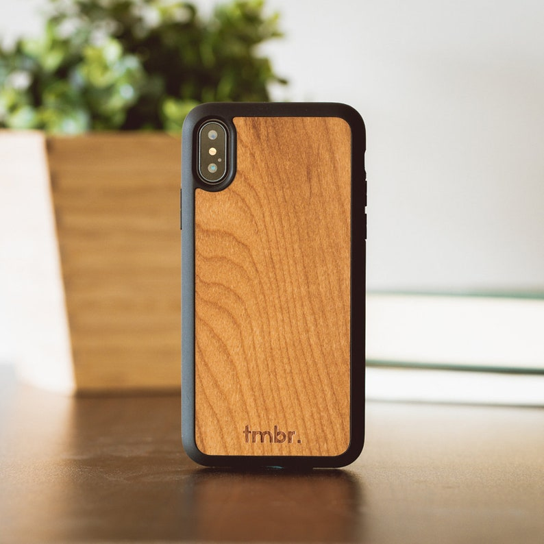 wood iphone xs case
