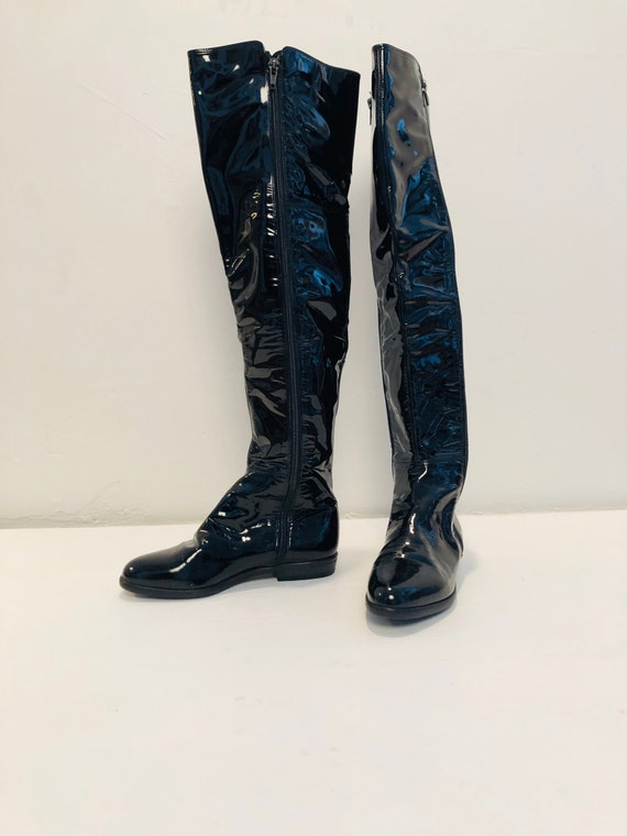 90's Thigh High Patent Leather Boots