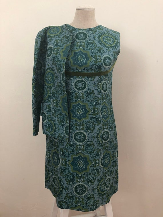 Petite 60's dress and jacket set