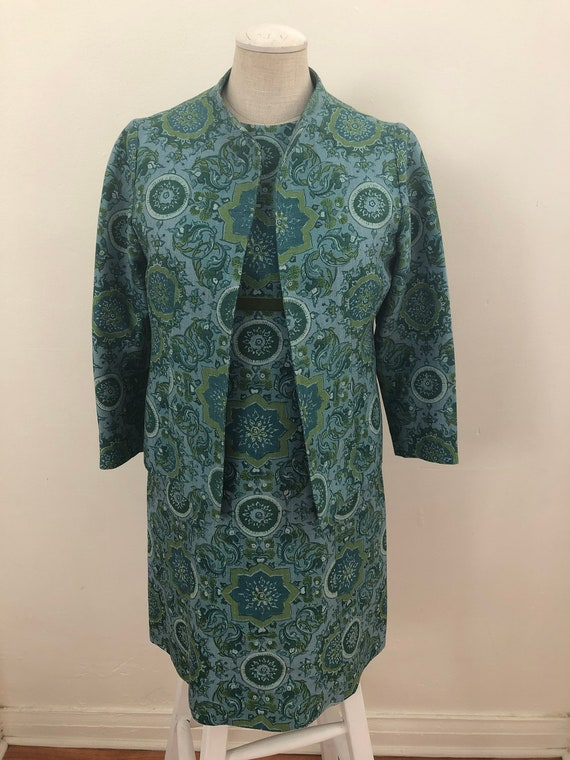 Petite 60's dress and jacket set - image 2