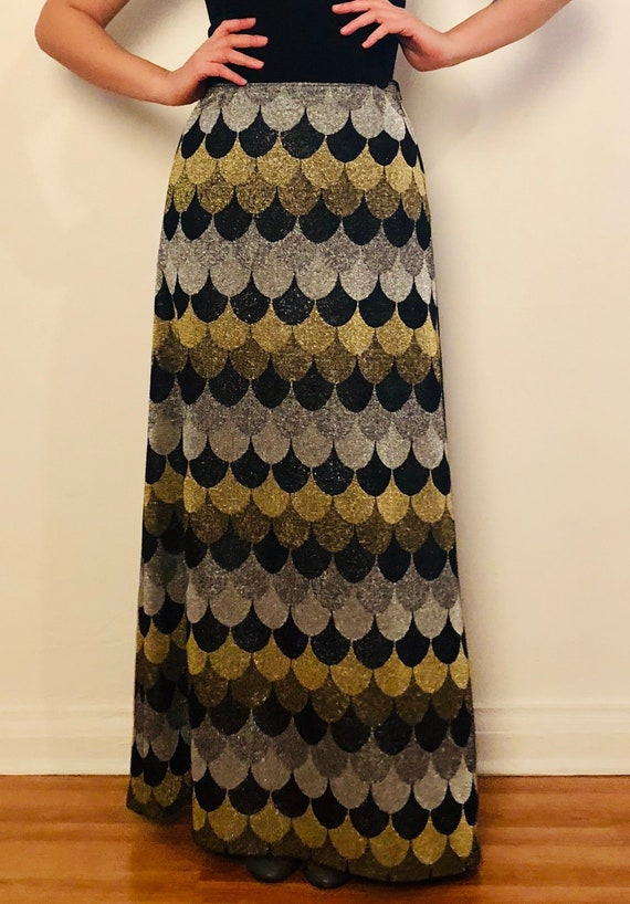 60's Maxi Metallic Skirt