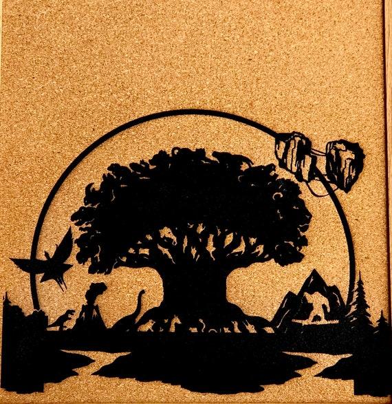 Tableau en liège encadrée d'inspiration règne animal