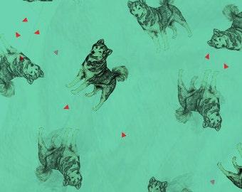 Green Husky Gift Wrap Single Sheet