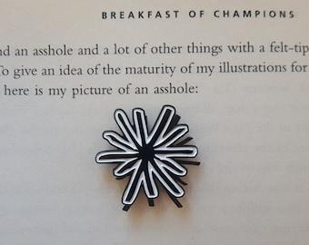 Kurt Vonnegut butthole pin