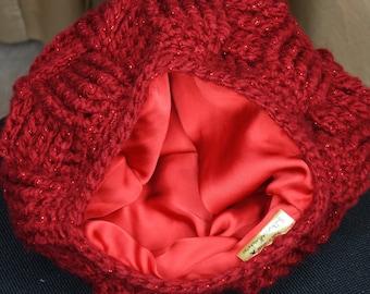 0f5408fd406 Satin Lined crochet winter hat
