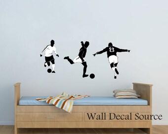 Soccer Wall Decal - Football Wall Decal - Vinyl Wall Decal - Boys Wall Decal