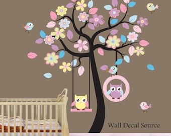 Nursery Wall Decal  - Owl Wall Decal - Baby - Vinyl Sticker - Reusable Vinyl-4168