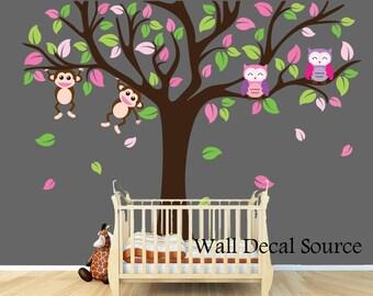 Large Nursery Tree Wall Decal - Nursery Tree Decal - Vinyl Wall Decal