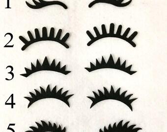 graphic regarding Unicorn Eyelashes Printable named Unicorn eyelashes Etsy