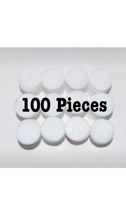 100 Felt Circles 0.25 0.375  0.5  image 0