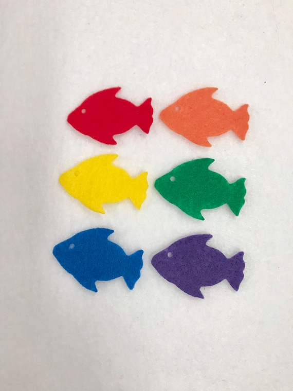 Felt Fish 6 Sea Life Die Cut Craft Embellishments