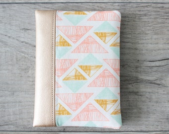 Passport Wallet, Travel Wallet, Travel Organizer, Passport Cover for 1 (one), 2 (Two), 3 (three) or 4 (four) - Faux Leather - Metallic Gold